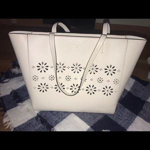 Kate Spade white leather bag with perforations